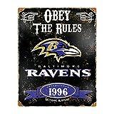 Party Animal NFL Embossed Metal Vintage Baltimore Ravens Sign - Party Animal - amazon.co.uk