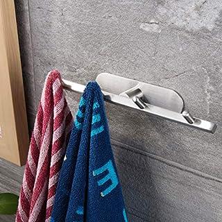 ZUNTO Crochet Adhésif Porte Serviette Inox 4 Crochets pour Cuisine Salle de Bain