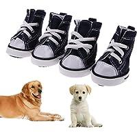 Demiawaking Set 4 Scarpe di Tela per Cani Domestico Scarpe da Ginnastica Sportive Impermeabile Antiscivolo Stivaletti…