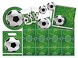 Procos 10110965B Partyset Fußball, Größe XL, 55 teilig