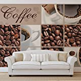 Coffee Cafe - Forwall - Fototapete - Tapete - Fotomural - Mural Wandbild - (114WM) - XXL - 206cm x 275cm - VLIES (EasyInstall) - 2 Pieces
