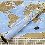 Perfect Travel Map - wunderschöne XXL Rubbel-Weltkarte, das perfekte Geschenk für jeden Weltenbummler, Globetrotter, Urlauber, Backpacker oder Sprachschüler (Poster: 83,6 x 60,5cm) -