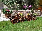 Korb-Bagger mit Korb-Schaufel + Anhänger braun hell 80 + 60 cm XL, Korbgeflecht, WETTERFEST**, witzige Gartendeko 100% NATUR, ideal als Pflanzkasten, Blumenkasten, Pflanzhilfe, Pflanzcontainer, Pflanztröge, Pflanzschale, Rattan, Weidenkorb, Pflanzkorb, Blumentöpfe, Holzschubkarre, Pflanztrog, Pflanzgefäß, Pflanzschale, Blumentopf, Pflanzkasten, Übertopf, Übertöpfe, , Holzhaus Pflanzgefäß, Pflanztöpfe Pflanzkübel