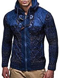 LEIF nELSON lN20225 cardigan en tricot pour homme