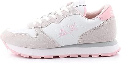 SUN68 Z30201 01 Ally Solid Nylon Sneaker da Donna Bianca