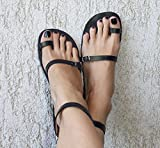 Toe Ring Sandals, Leather Sandals, Boho Sandals, Strappy Sandals, Greek Sandals, Women Sandals, Handmade Sandals, Leather Shoes - BREEZE
