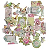 #9: AsianHobbyCrafts Beautiful Decorative & Artistic Cards Diy Cuts Set of 25pcs for Scrapbooking and DIY Cards making.