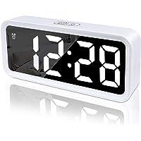 DTKID Réveil, Horloge numérique, réveil numérique avec Grand écran LCD, Surface Miroir, rétro-éclairage, répétition…