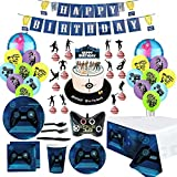 155Pcs/Set Fortnite Video Game Party Supplies Happy Birthday Cake Banners Favors Foil Latex Balloons Video Gaming Party Theme