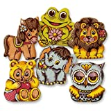 100 Lustige Tierfiguren aus Dekormasse, sortiert | Tortendekoration | essbar