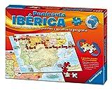 Ravensburger 24027, Puzzle Doble Mapa Península Ibérica España Fisico Y Politico, pack con 2 X 100 Piezas