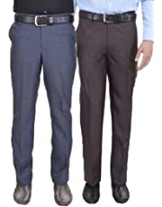 AD & AV Mens Trouser Pack of 2 Combo_GD_Blue_Grey_II