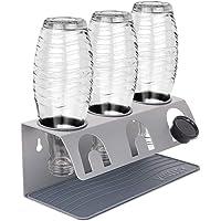 Vinlley Porte-bouteilles en acier inoxydable compatible avec les bouteilles Sodastream 3 pièces – Égouttoir pour…