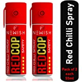 Newish : Powerful Red Chilli Spray Self Defence for Women Pack of 2 (Each : 55 ml / 35 gm)