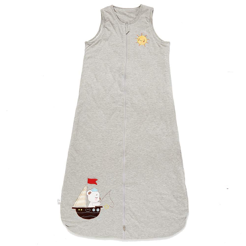 schlabigu Saco de Dormir para bebé, Invierno, niño, niña, recién Nacido, 2,5 TOG, para niños. Barco Gris. Gris Gris Talla:90CM/6-18monate