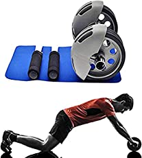 Power Stretch Ab Wheel Roller Exercise Equipment Workout Roller Home Gym,Professional Ab Wheel Roller Supports, Abdominal Workout Machine, Ideal Men Women