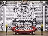 FSKJBZ Tapete 3D Wandbild Dekor Foto Hintergrund Fotografie Stereo Klassische Architektonische Skulptur Luxus Salon Wandmalerei Mural-350cmx245cm @ 300cmx210cm