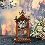 ALUK- Horloge De Style Rétro Style Européen/Décorations À La Maison/Horloge De Table Pendulaire Silencieuse/Horloge Créative Créative/Horloge De Bureau Antique