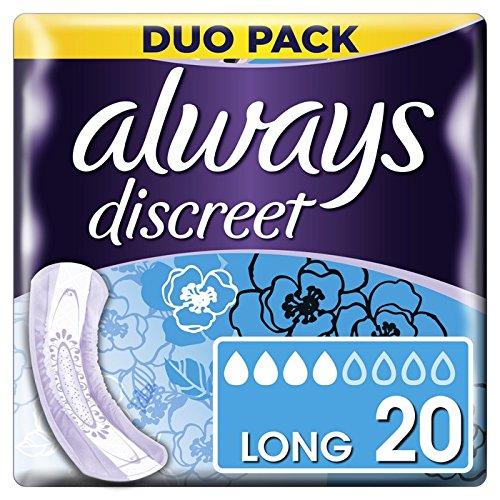 Always Discreet Servietten lang für Blasenschwäche und Inkontinenz x20
