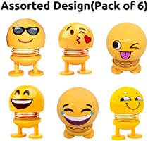 Eitheo Pack of 6 Emoji/Smiley Spring Doll,Cute Emoji for Car Dashboard Bounce Toys,Emoticon Figure Funny Smiley Face...