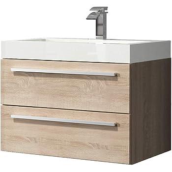 badezimmer badmobel marseille 60 cm eiche hell unterschrank schrank waschbecken waschtisch