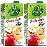 B Natural Apple Juice 1L, (Pack of 2)
