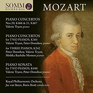 Mozart:Piano Concertos [Valerie Tryon; Peter Donohoe; Mishka Rushdie Momen; Royal Philharmonic Orchestra; Jac van Steen; Boris Brott] [Somm Recordings: SOMMCD 268-2]