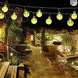 Samoleus 6M 30 LEDS Solar Lichterkette, Beleuchtung Kugel Aussen Warmweiß, Außenlichterkette Christmas Lights Wasserdicht für Party, Weihnachten, Außen, Hausdekoration (Warmweiß)