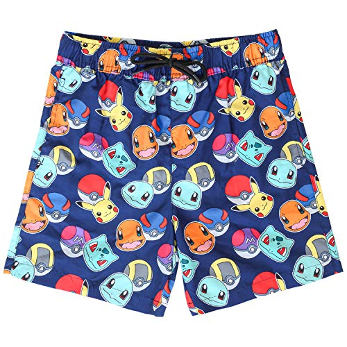 Pokèmon Pantalones Cortos Pantalones Cortos De Natación para Niños con Pikachu Y Pokeballs | Ropa...
