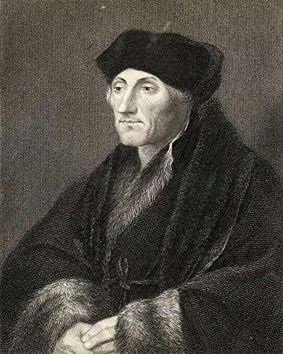 Ken Welsh / Design Pics - Desiderius Erasmus 1469-1536. Dutch Humanist And Theologian. Greatest European Scholar Of The 16Th Century. From The Book _Gallery Of Portraits Published London 1833. Photo Print (33,02 x 43,18 cm) - 16th Century Portraits