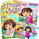 Dora the Explorer Coloring Book Super Set -- 4 Dora and Diego Coloring Books with Stickers (Dora and Friends Party Supplies)