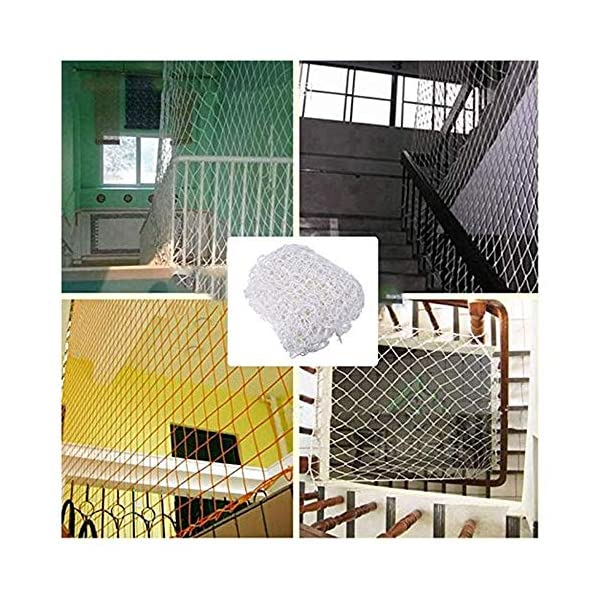 "HWJ Child Safety Net,Decor Net Protection Fence Climbing Woven Rope Truck Cargo Trailer Netting Net Mesh Nets,for Rail Balcony Banister Stair Playground Children Indoor Decoration Outdoor HWJ ★Material of the kids protective netting: expanded polyester. ★Characteristics of decoration net: soft material, light mesh, multi-layer warp and weft, precise wiring, workmanship; high temperature sunscreen, waterproof; clear lines, anti-slip endurance and anti-wear. ★Mesh size*rope diameter:3cm*4mm(1.2""*5/32) , 5cm*6mm(2""*15/64) , 10cm*6mm(4""*15/64).Length*width: please make purchase according to your actual needs.We have any other size (rope diameter, mesh, length * width) rope net, support customization.If you have any questions or needs, please contact us. 5"
