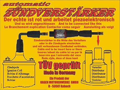 Preisvergleich Produktbild Hagen Zündverstärker - mehr Power, mehr Effizienz für alle Benziner