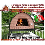 Pizza Party 70x70 Forno a legna (BRONZO) + Sportello con vetro
