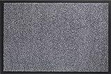 ID MAT 8012002Mirande - Felpudo (Fibra de Nylon y PVC cauchutado, 120x 80x 0,9cm), Gris, 80 x 120 cm