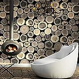 MDDW-Stile nordico retrò imitazione legno carta da parati soggiorno café bar pareti carta da parati negozio di abbigliamento , 3#