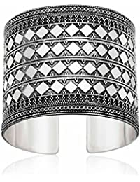 Ahilya jewels Dakshin Collection .925 Sterling Silver Cuff