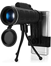 amiciVision 40X Monocular Telescope Mobile Phone Camera Lens + Tripod for All Mobile