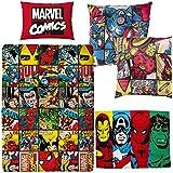 Marvel Comics Defenders Single Bettbezug & Leinwand Kissen & Fleece Decke Avengers Schlafzimmer Bundle Set
