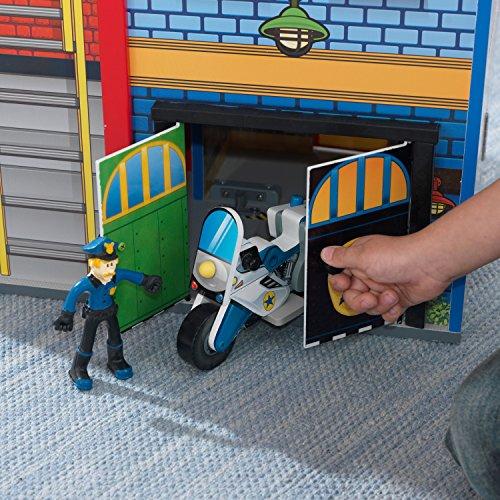 KidKraft - Everyday Heroes Spielset Feuerwehrhaus und Polizeiwache aus Holz - 17