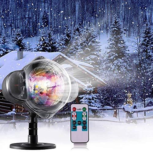 Schneefall-im Freien geführte Weihnachtslichter zeigt Projektor-Show wasserdichte drehende -