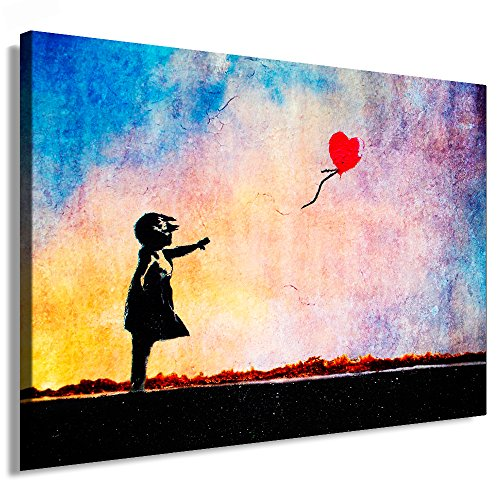 "Fotoleinwand24 - Banksy Graffiti Art ""There Is Always Hope"" / AA0134 / Bild auf Keilrahmen / Bunt / 150x100 cm"