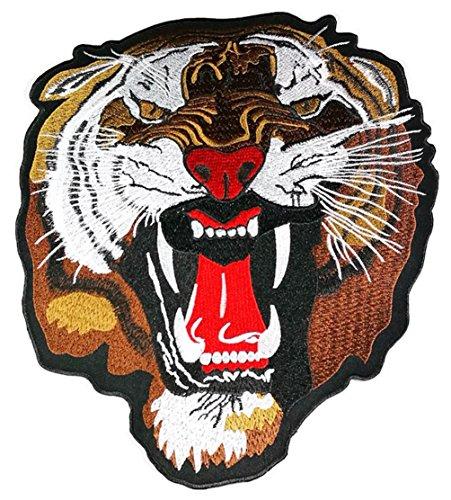 Größe Big Head Bengal Tiger Big Cat Wild Animal Jacket T Shirt Patch Sew Iron on gesticktes Badge Schild Kostüm