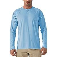 KEFITEVD Maglietta a maniche lunghe con protezione UV UPF 50+, leggera, sottile, per escursionismo per Uomo
