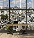 Papier Peint déco poster PARIS LA SEINE 3 x 2,70 m  | Déco et photo murale XXL Qualité HD Scenolia