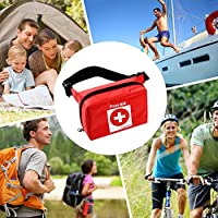 2-in-1 FIRST AID KIT IN POUCH BAG & BONUS FIRST AID GUIDE w/ 101 Piece Essential Supplies-For Home/Outdoor/Car/Camping/Hiking/Sport/School/Travel-Portable Emergency Medical Bag