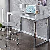 Design Schreibtisch Konsolentisch MOODY 120x60 hochglanz weiss