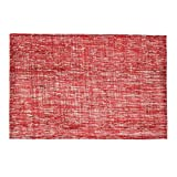 Shimmer Burlap Placemats Red 2/Pack