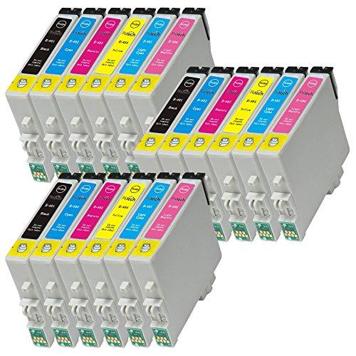 Pictech® Compatible cartouches d'encre de remplacement pour Epson T0487 / T0481, T0482, T0483, T0484, T0485, T0486 - pour Epson Stylus Photo RX420 RX425 RX520 R240 R245 RX450 Imprimantes (3x Noir, 3x Cyan, 3x Magenta, 3x Jaune, 3x Cyan Clair, 3x Magenta Clair) (3 Définit)