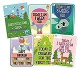#8: SYGA Set Of 27 Multicolor Baby Milestone Cards